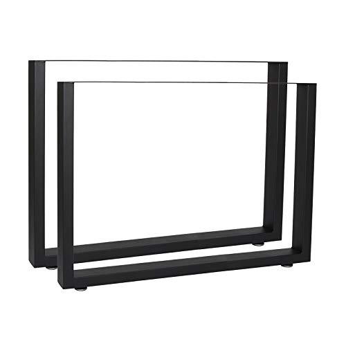 Bastidores para mesa 90x72 cm Recubrimiento polvo negro Caballetes para tablero Patas mesa Bricolaje