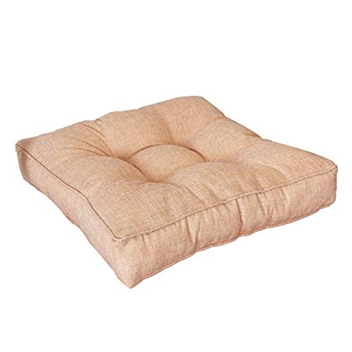 Larew Cojín acolchado para silla Cojín de asiento Cojín de silla Cojín acolchado Apoyo Sillón Cojines espesar cojines para jardín hogar oficina coche 40 x 40 x 9 cm (lino)