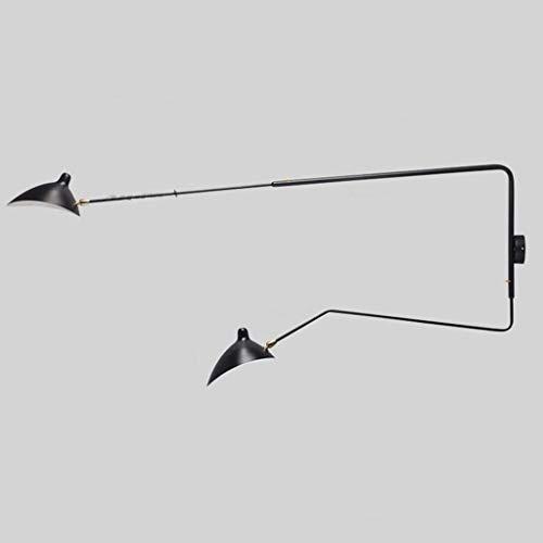 LLLKKK Lámpara de pared para salón, comedor, estudio, pasillo, lámpara de mesita de noche, E14 (color: A)