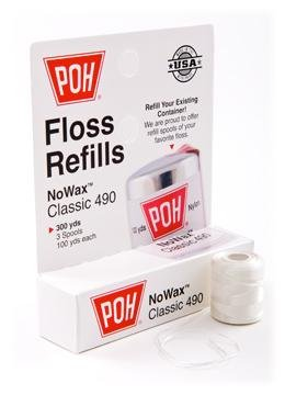POH Floss Refills NoWax Classic 490 300yds (3 Spools, 100yds each)