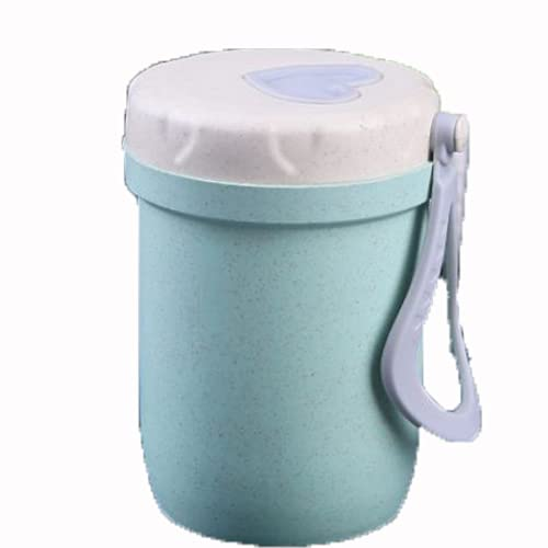 YIXINYOUPIN Vaso de paja de trigo reutilizable irrompible, respetuoso con el medio ambiente, botella de agua saludable biodegradable, tazas de amor multicolores, puede contener café, té verde