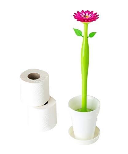 VIGAR Flower Power Brosse WC en Plastique 12x 12x 48,5cm Multicolore