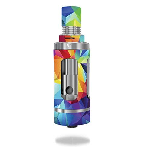 Decal Sticker Skin WRAP Textured Rainbow Polygon Design for Aspire Triton Tank