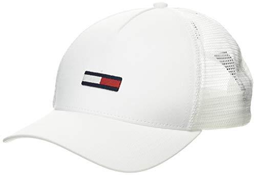Tommy Hilfiger TJM Trucker Flag Cap Gorro/Sombrero, Blanco, OS Para Hombre
