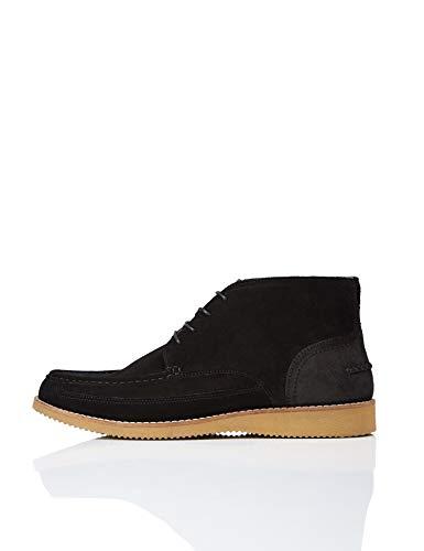 find. Eli Wedge Sole Leather Chukka Boots, Schwarz (Black), 44 EU