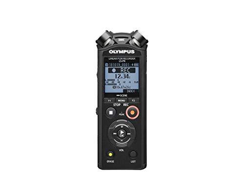 Olympus LS-P4 Hi-Res Audiorekorder mit TRESMIC 3-Mikrofonsystem, integriertem Bluetooth, direkt USB, 2-Mik-Rauschunterdrückung, Fade-in/Fade-out Funktionalität, Trimmen/Overdubbing Bearbeitung und 8GB