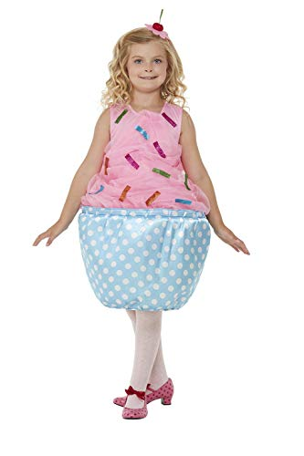 Smiffys Cupcake Costume Disfraz de magdalena, color rosa, S-4-6 Years (71081S)