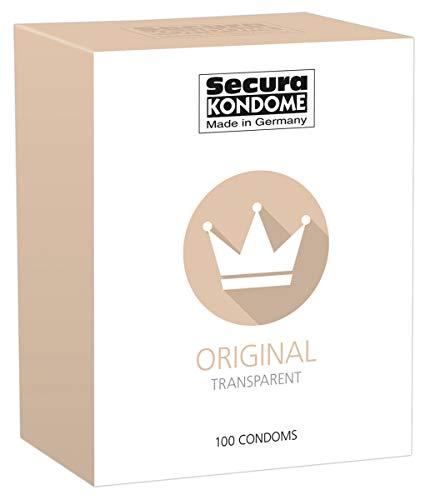 Secura Original 100er Kondome - 100 transparente Präservative zur Verhütung ohne Hormone für Männer, extra feucht mit Reservoir