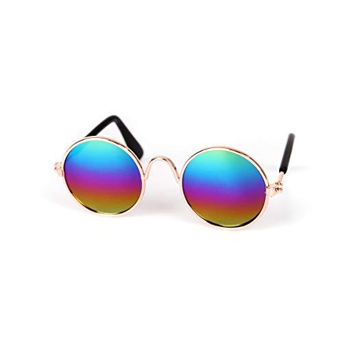 HehiFRlark - Gafas de sol de metal con personalidad, gorros divertidos, accesorios para animales de compañía gato, multicolor