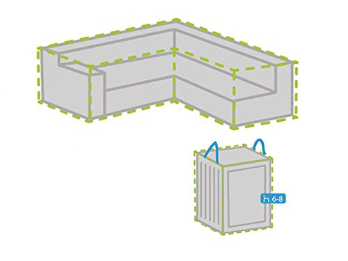 Protection pour pochettes Ensemble : 215 x 215 cm pour l de jardin lounge et housse pour 6–8 En Forme De Coussin