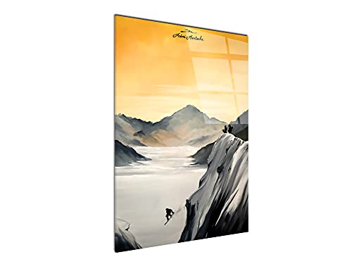 DECLINA - Cuadro de pared de plexiglás impreso, diseño moderno de plexiglás,...