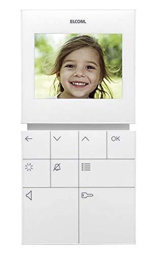 Elcom Video-Freispr.-Hausstation BVF-510 WS Innenstation für Türkommunikation 4250111814089