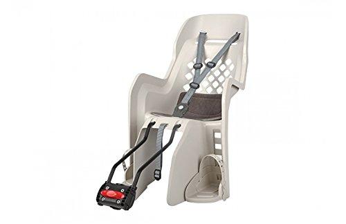 Polisport Porte Bebe - Arriere - Fixation Cadre - Siege Enfant Velo - modèle Joy 26' A 29' - Porte bébé Couleur crème - siège Enfant Marque