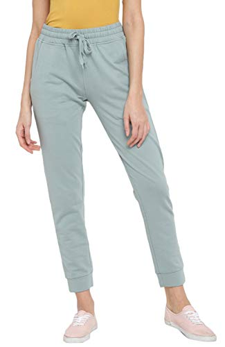 Alan Jones Clothing Solid Women's Joggers Track Pants (Pista Green;...