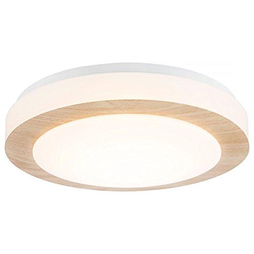 Nino 61162846 Gordon LED Deckenleuchte Deckenlampe Lampe Eiche hell 28 cm A+ 8W