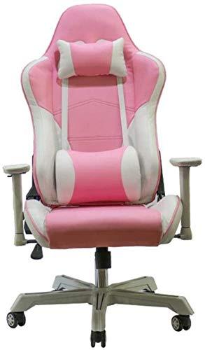 Silla para juegos MHIBAX, silla ergonómica para juegos, silla de ordenador de carreras con respaldo alto, silla giratoria de cuero PU, sillón de 70X70X125CM