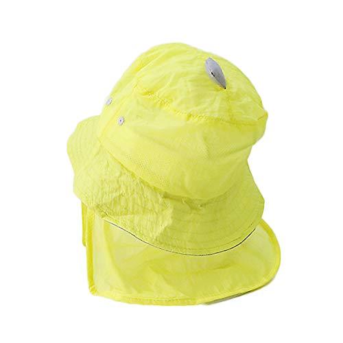 LYDIAMOON Kid Sonnenhut Schnell Trocknend Atmungsaktiv Schützen Sie Den Hals Anti-UV-Waschbar Dünn Und Leicht Outdoor Für Jungen Mädchen,Yellow
