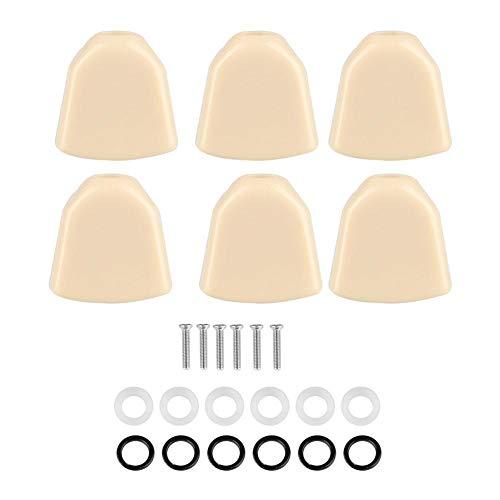 Vbestlife 6 PCS/Set Guitar Acrílico Botones de Clavijas Clavijas Cabezas de máquina para Guitarra Accesorio de música