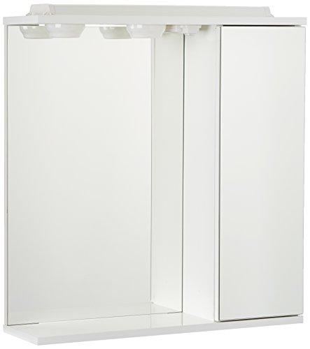 The Living Design Volta Schrank mit 1Tür mit Spiegel, Holz, Weiß, 63x 61x 15.6cm