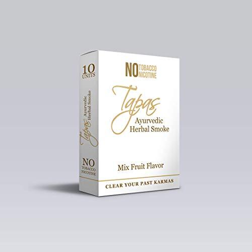 TAPAS PREMIUM HERBAL AYURVEDIC STICKS 100% NO NICOTINE NO TOBACCO (PACK OF 10) MIX FRUIT FLAVOUR