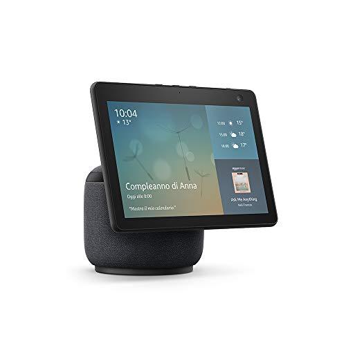 Nuovo Echo Show 10 (3ª generazione) | Schermo intelligente in HD con movimento e Alexa, Antracite