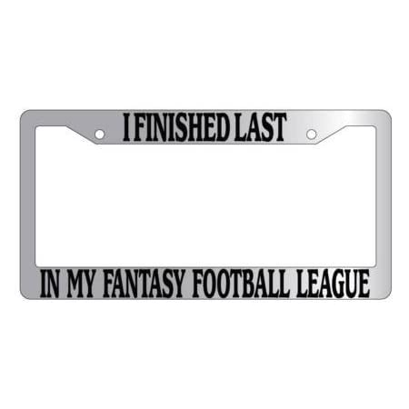 ANDZAN Metal Insert License Plate Frame Last Place I Suck at Fantasy Football Weatherproof Car Accessories Hot Pink 2 Holes Solid Insert
