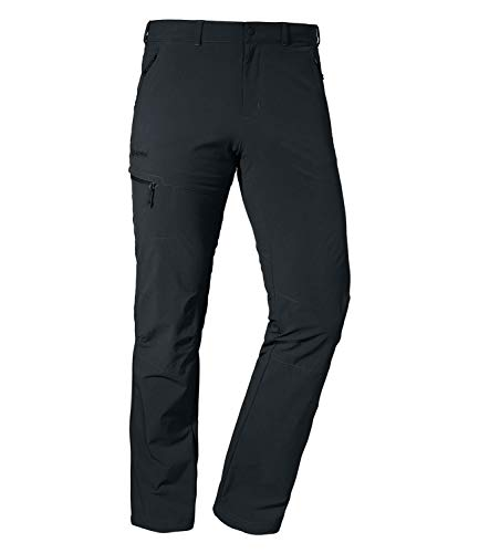 Schöffel Herren Pants Koper1 bequeme und robuste Herren Hose mit 4-Wege-Stretch, elastische und wasserabweisende Wanderhose für Männer, black, 52