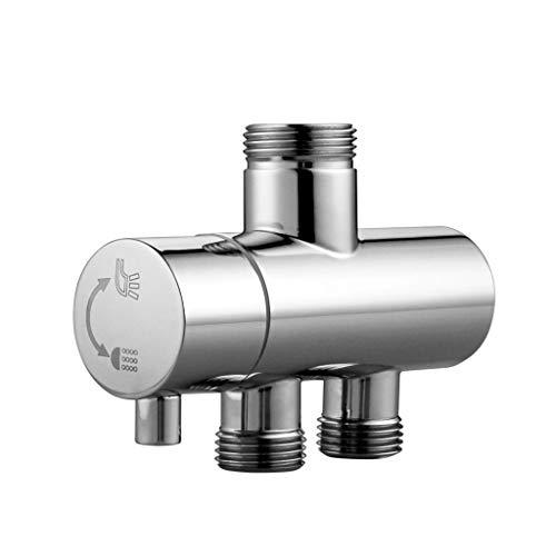 YWSZJ Ducha Faucet Diverter 3 Way Ducha Brazo Diveridor 2 Funciones Válvula de Grifo para Mezclador de Ducha Cuerpo de latón Cromado