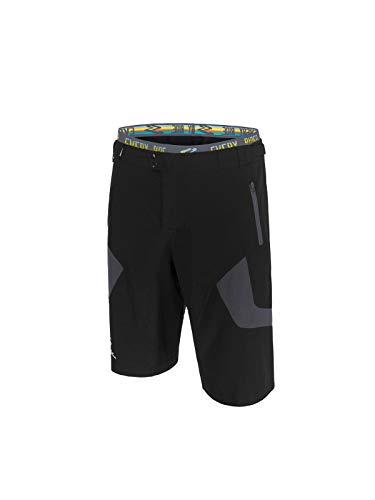 Spiuk Urban Pantalon Corto, Hombres, Negro/Gris, T. L