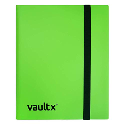 Vault X Binder - 4 Pocket Trading Card Album Folder - 160 Side Loading Pocket Binder for TCG (Green)