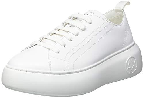 Armani Exchange Damen The Super Sneaker, Optic White, 41 EU