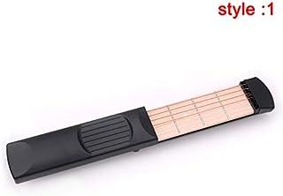 Beaurtty ポータブル ポケット アコースティック ギター練習ツール コードトレーナー 4/6フレットモデル 初心者用