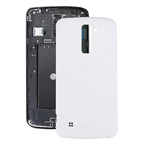 ZHANGQUAN Reemplazo de ANQ Vivienda de reemplazo de la batería de la contraportada de la contraportada con el Chip NFC for LG K10 (Negro) (Color : White)