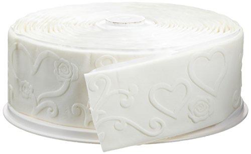 Cake Company Fondantrand 5m ca.4,7 x 5 cm weiߟ Herzen und Rose 1er Pack (1 x 700 g)