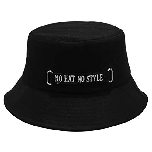LUOEM Sombrero de Cubo de Letra sin Sombrero sin Estilo Gorra de...