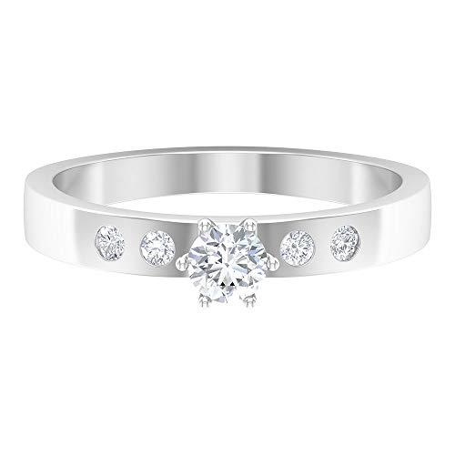 Rosec Jewels 14 quilates oro blanco round-brilliant-shape H-I Diamond