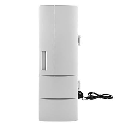 Labuduo Mini geladeira pessoal compacta e portátil, congelador pessoal USB ecológico com refrigerador e aquecedor 12 V carregador de carro para casa, escritório, carro, barco, quarto, dormitório, ótimo para cuidados com a pele e cosméticos