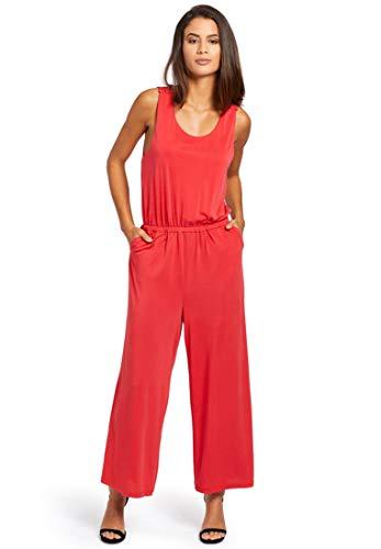 khujo Damen Jumpsuit Venice Jersey-Overall mit Rückenausschnitt weitem Bein Softer