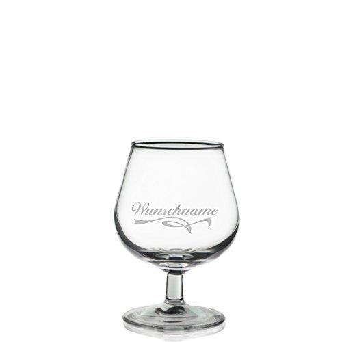 polar-effekt Cognacglas Cognacschwenker 150 ml mit Gratis Wunschname Wunschgravur
