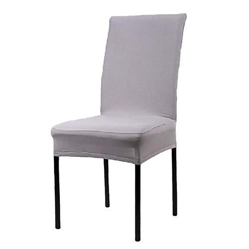 Monbedos 6pcs grijze stoelbekleding moderne stoelhoezen stretch universele stoelhoezen elastische hoes spanhoes met elastische band, voor hotel, feest, thuis, op kantoor en in restaurant