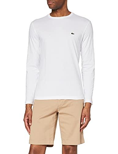 Lacoste TH2040 Camiseta, Blanco, Large para Hombre