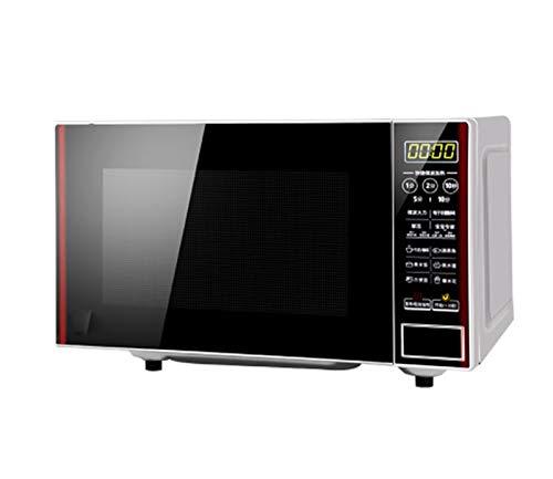 HANYF 20L 700W Schwarz Digitaler Freistehender Mikrowellenherd, Digitaluhr Und Timer / 12 Voreingestellte Kochmenüs/Automatisches Abtauen, Leicht Zu Reinigen