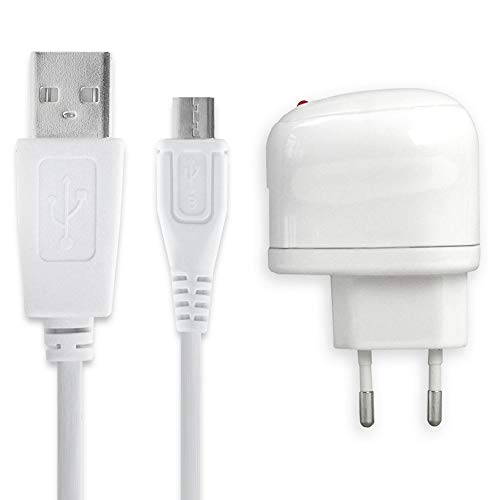 subtel® Oplader 1m 1A / 1000mA compatibel met JBL Flip 2, 3, 4 / Charge 1, 2, 3 / Pulse 1, 2, 3 / Go 1, 2 / Clip 1, 2 / Link 10, 20 / Soundgear BTA 5V Micro USB Lader Oplaadkabel USB Kabel Laadkabel wit Charger