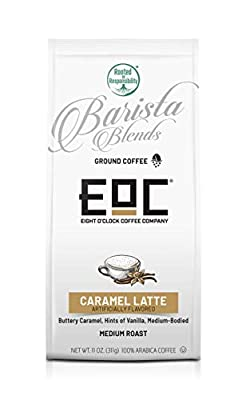 Eight O'Clock Coffee Barista Blends Ground Coffee, Caramel Latte, 11 Ounce