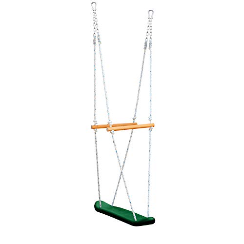 Gorilla Playsets 07-0026 Skateboard Swing Standing Swing for Outdoor Swing Set, Green, Black