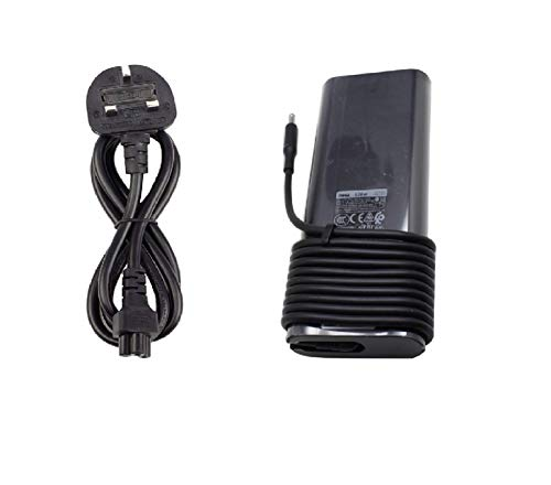 Dell New Genuine Original 19.5V 6.67A 130W Slim Laptop Ac Adapter XPS 15-9550 15-9530 15-9570 15-9560 Laptop Power Charger with UK Power Cord - 1 Year Replacement Warranty - Sold By Wikiparts