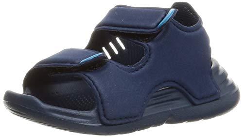 adidas Swim Sandal I, Scarpe da Ginnastica Unisex-Bambini, Crew Navy/Crew Navy/Ftwr White, 19 EU