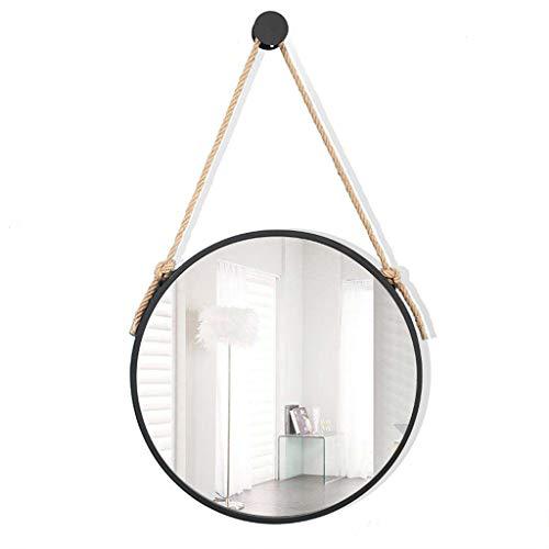 Miroirs muraux en métal pour salle de bain Miroirs de vanité Miroir de maquillage mural en fer rond Miroir pour salon, chambre à coucher, 30-70cm Disponible Décoration Miroirs