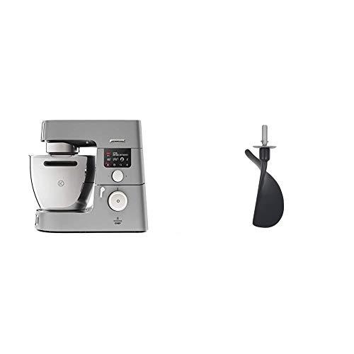 Kenwood KCC9060S Cooking Chef Gourmet, Impastatrice Planetaria, Robot da Cucina Mixer, 1500W, 4.5 Litri, Acciaio, Argento & Accessorio Spatola per Impastatrice Planetaria per Pasticceria AT512