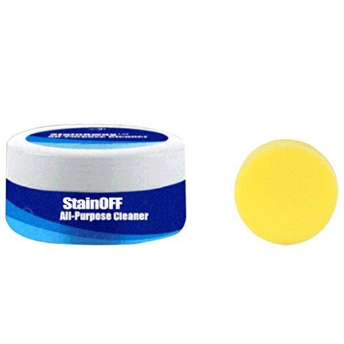 UKtrade Limpiador multiusos Solución completa Azulejos/Plástico/Acero inoxidable/Cuidado de la piel Pasta de limpieza del hogar, con esponja de limpieza